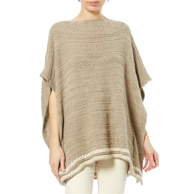 Maille Love PONCHO BEIGE