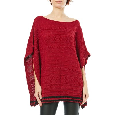 Maille Love PONCHO ROSSO
