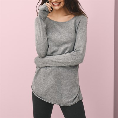 Only MILA LACY TOP GRIGIO