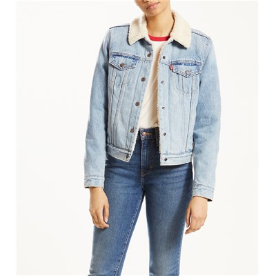 Levi's THE TRUCKER GIACCA IN JEANS BLU JEANS