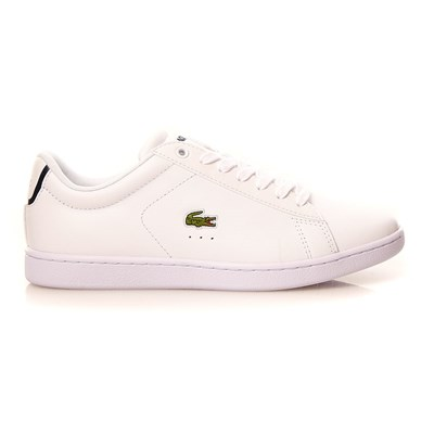 Lacoste CARNABY EVO WOMAN BASKETS AVEC CUIR BLANC Chaussure France_v10866