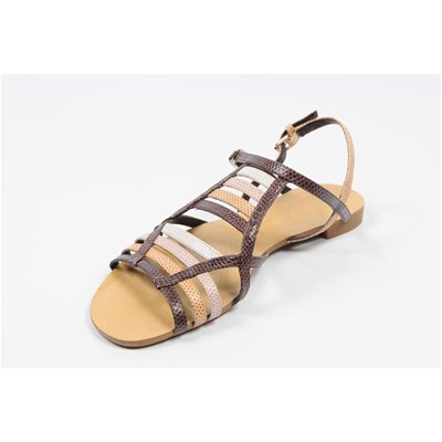 Nine West RUNNER SANDALES EN CUIR BRUN Chaussure France_v6042