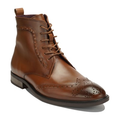 Thomas Blake HARVEY BOTTINE EN CUIR COGNAC