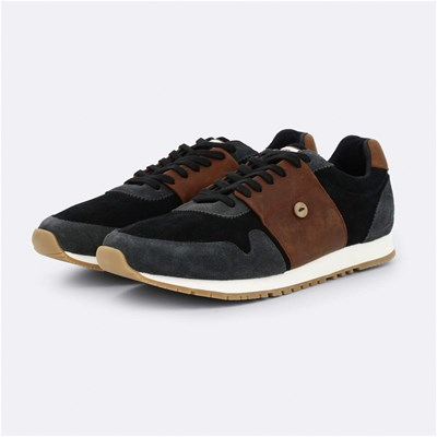 Shopping online Faguo OLIVE23 SNEAKERS IN PELLE TRICOLORE