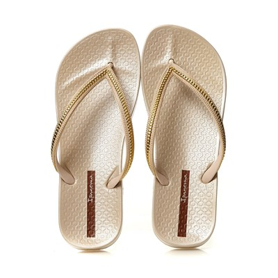 Ipanema ANA METALLIC TONGS BEIGE Chaussure France_v1558