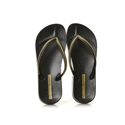 Ipanema ANA METALLIC TONGS NOIR Chaussure France_v1560