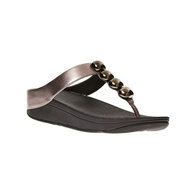 FitFlop ROLA PEWTER TONGS EN CUIR ETAIN Chaussure France_v12541