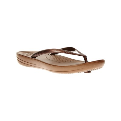 Chaussures Femme | FitFlop TONGS BRONZE