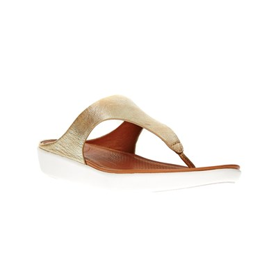 FitFlop TONGS EN CUIR OR Chaussure France_v14922