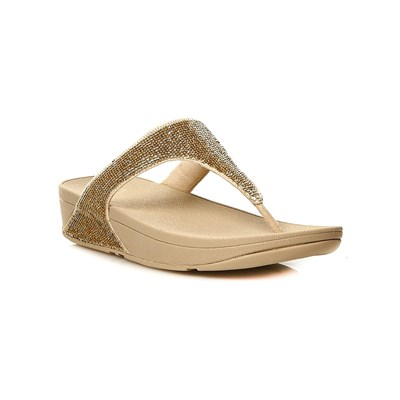 Cartago ELECTRA MICRO TOE-POST 308-PALE GOLD TONGS À PLATEFORME OR Chaussure France_v4073