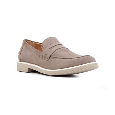 Chaussures Homme | Geox DAMOCLE MOCASSINS EN CUIR TAUPE