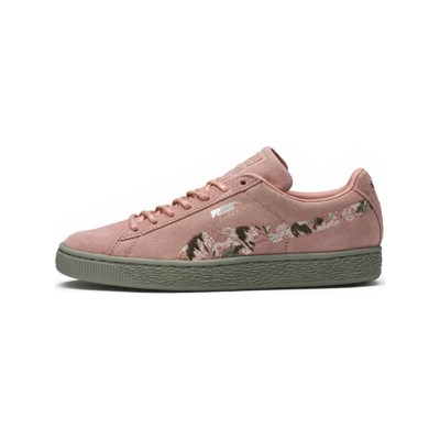Puma SUEDE IRREG BASKETS EN CUIR ROSE Chaussure France_v7612