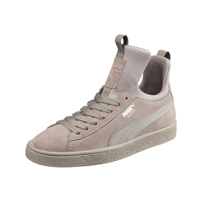 Puma SUEDE FIERCE LOW SNEAKERS GRAU
