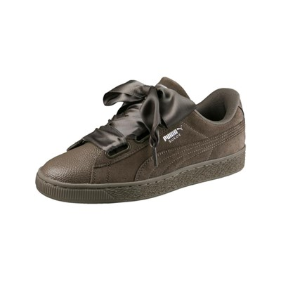 Puma SUEDE HEART BUBBLE LEDERSNEAKERS BRAUN