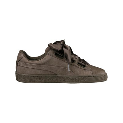 Marron Suede En Cuir Bubble Caoutchouc Puma Baskets Heart 2830813 awBq6UY
