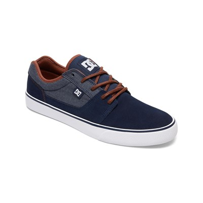 DC Shoes BASKETS EN CUIR BLEU Chaussure France_v1428