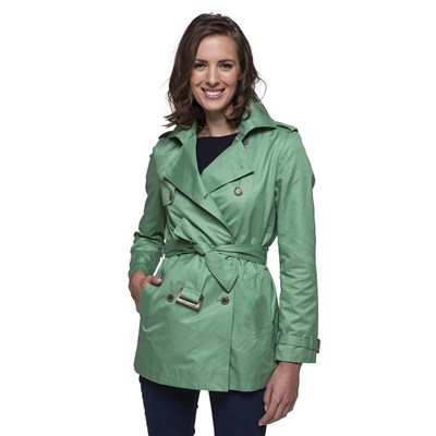 Trench and coat TRENCH CORTO VERDE