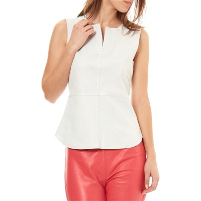 Isaco TOP IN PELLE CREMA