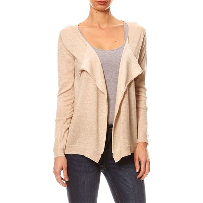 Cashmere 4 ever CARDIGAN IN MISTO LANA BEIGE
