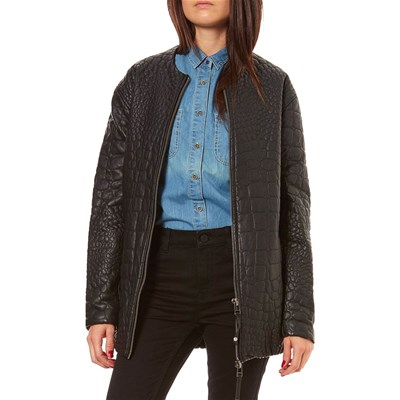 Pepe Jeans London GATOR GIACCA IN SIMILPELLE NERO