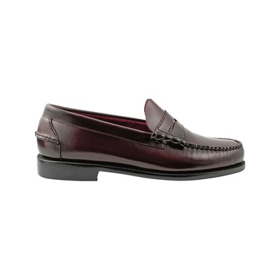 Exclusif Paris HARVARD MOCASSINS EN CUIR BORDEAUX