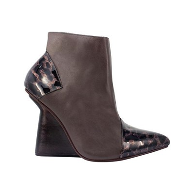 Pring Paris AMELIA BOTTINES EN CUIR MARRON