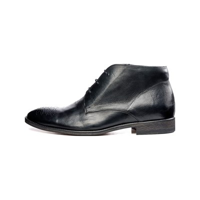 Féron Paris CHUKKA BOTTINES EN CUIR NOIR Chaussure France_v18306
