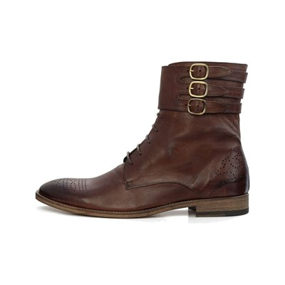 Féron Paris RANGERS EN CUIR MARRON Chaussure France_v18348
