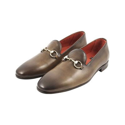 Exclusif Paris ALEC MOCASSINS EN CUIR MARRON