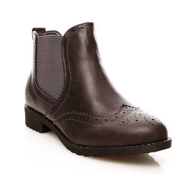 R and Be BOOTS, BOTTINES GRIS Chaussure France_v3194