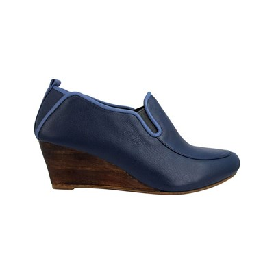 Pring Paris FILIPA BOTTINES EN CUIR BLEU Chaussure France_v17792