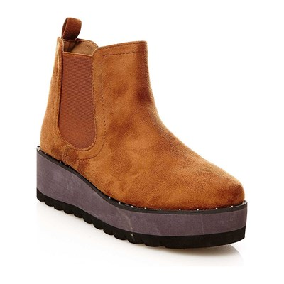 R and Be BOOTS, BOTTINES CAMEL