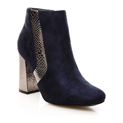 R and Be BOOTS, BOTTINES BLEU MARINE