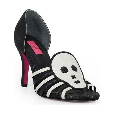 Pring Paris MISS SKULL ESCARPINS EN CUIR NOIR Chaussure France_v17798