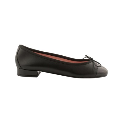 Exclusif Paris LUDOVICA BALLERINES EN CUIR NOIR Chaussure France_v12536