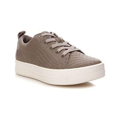 Timberland MAYLISS OX SNACKERS IN PELLE BIMATERIALE GRIGIO