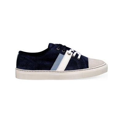 M by OLLIE BASKETS BASSES BLEU Chaussure France_v9167