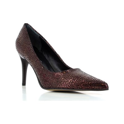 Elizabeth Stuart LESTON ESCARPINS EN CUIR BORDEAUX Chaussure France_v10380