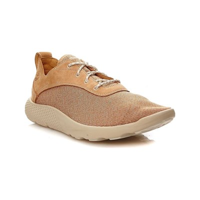 FLYROAM F/L OX DOE SNEAKERS AUS LEDER KAMELFARBEN