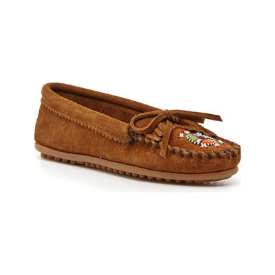 Minnetonka MOCASSINS EN VELOURS MARRON Chaussure France_v10071