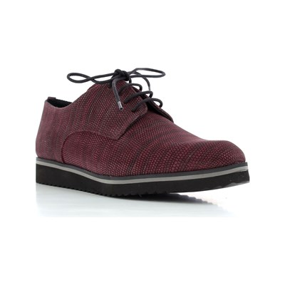 Elizabeth Stuart VUTOU DERBIES EN CUIR BORDEAUX Chaussure France_v8910