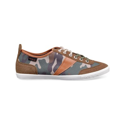 Peopleswalk GRANT 0412M TENNIS MARRONS À MOTIFS CAMOUFLAGE Chaussure France_v2138