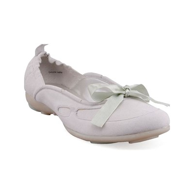 Design BALLERINES EN CUIR BEIGE Chaussure France_v4579