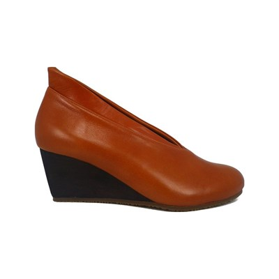 Pring Paris LOUISSA BOTTILLONS COMPENSÉS EN CUIR ORANGE Chaussure France_v17919