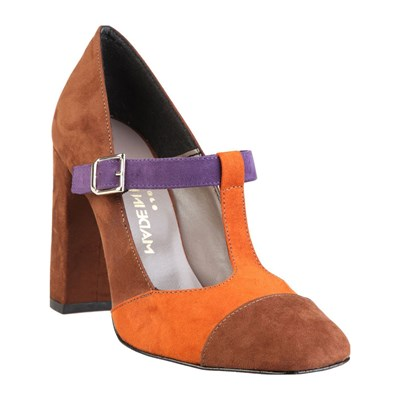 Chaussures Femme | Made In Italia GIORGIA CHAUSSURES À TALON EN CUIR ORANGE