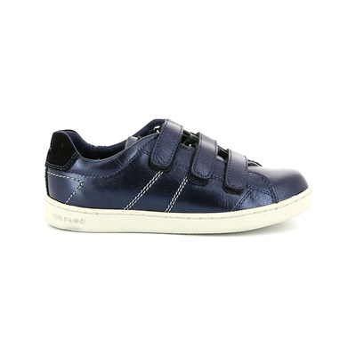 PLDM by Palladium MASTER GOT BASKETS EN CUIR BLEU Chaussure France_v7075