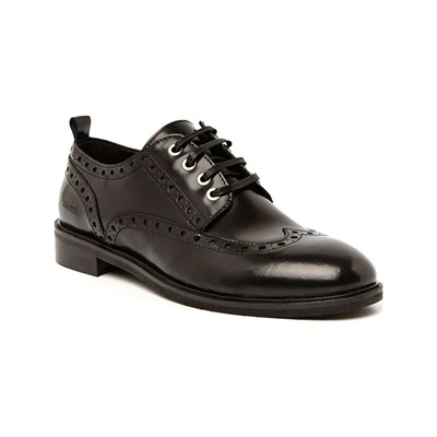 Ann Tuil IMMORTELLE DERBIES EN CUIR NOIR Chaussure France_v17054