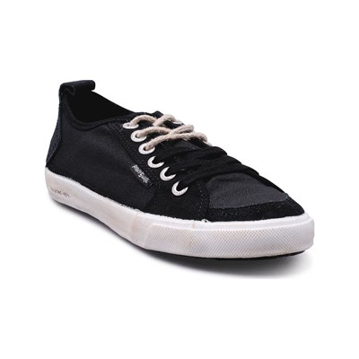 Peopleswalk PEOPLESWALK FLY SUEDE POLYCANVAS BASKETS NOIRES Chaussure France_v2148