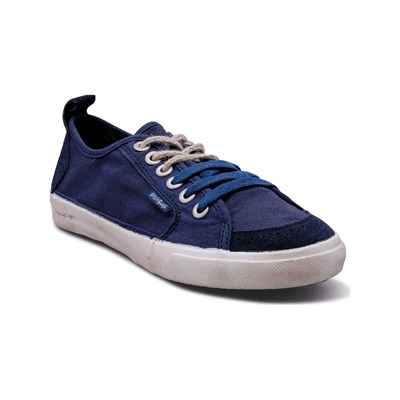 Peopleswalk PEOPLESWALK FLY SUEDE POLYCANVAS BASKETS MODE BLEUES MARINE Chaussure France_v2147
