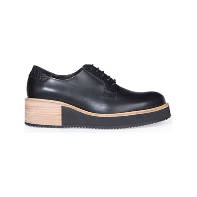 Subtle ALPHA DERBIES EN CUIR NOIR